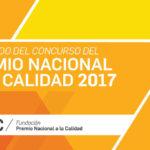 Resultado del concurso del Premio Nacional a la Calidad 2017